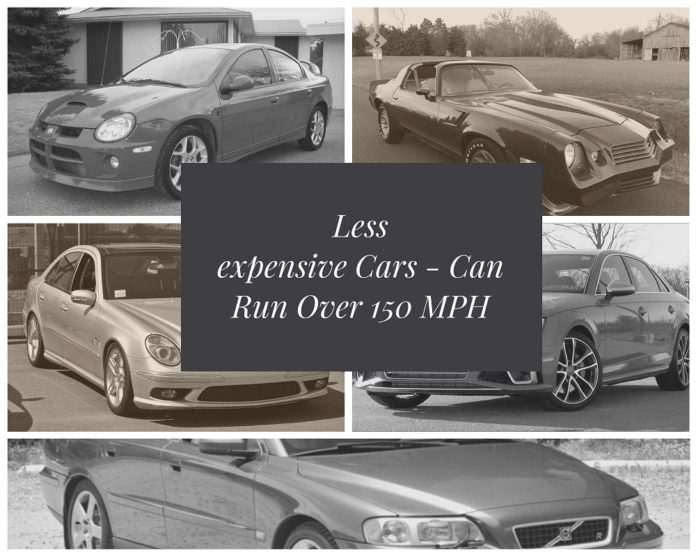 Less Expensive Cars That Can Run Over 150 MPH